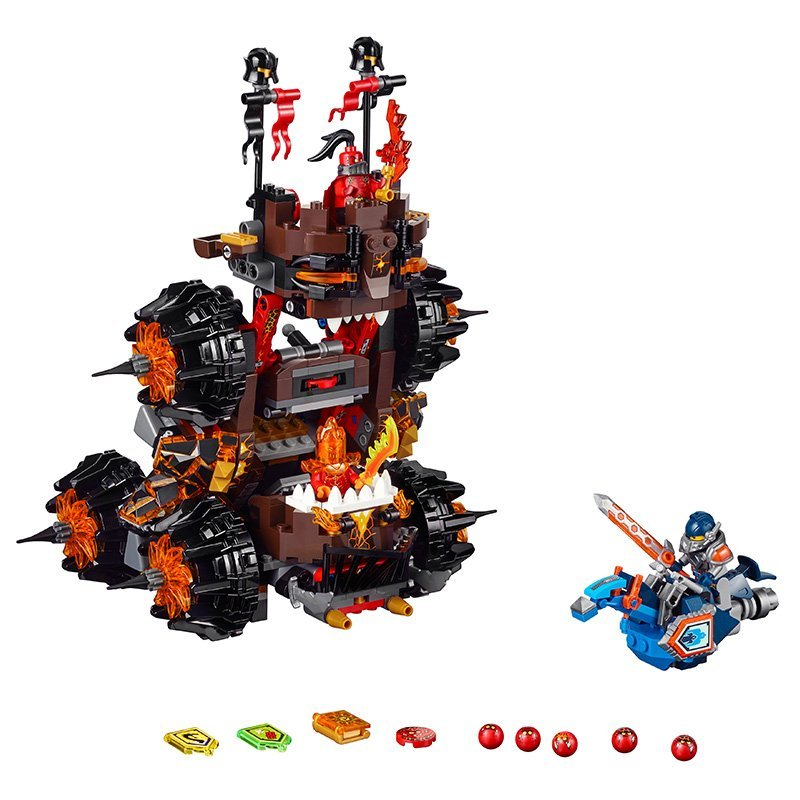 LEPIN Nexo Knights General Magmars Siege Machine Doom Marvel Building Blocks Kits Toys Minifigures Compatible Legoe Nexus  -  ZE World store