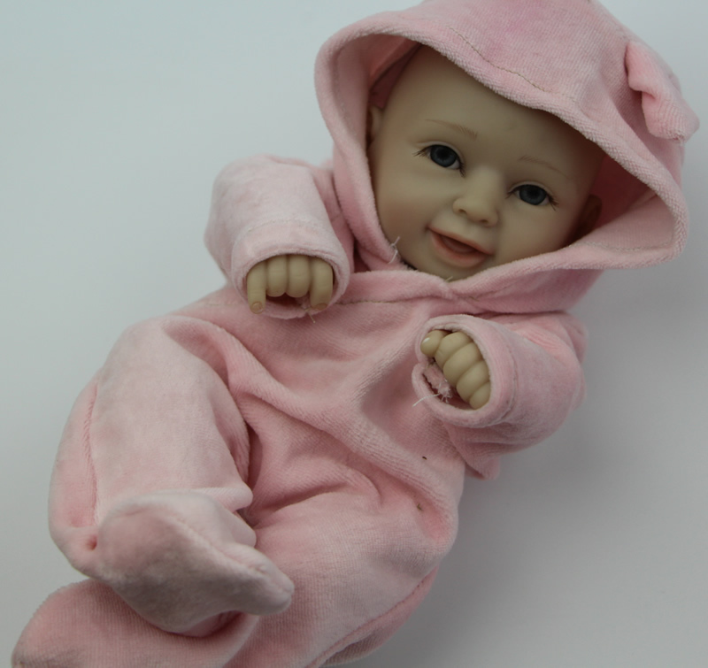 Realistic Fashion Doll Full Vinyl 12 Inch Reborn Baby Doll Cute Toddler Toys Lifelike Baby Girl Baby Alive Doll For Kids(China (Mainland))