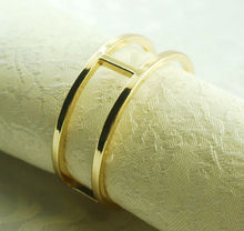 round gold metal  napkin ring, napkin holder for wedding,24 pcs(China (Mainland))
