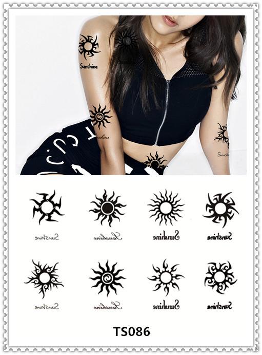 Acheter yeeech japon harajuku tatouage temporaire autocollant soleil conception - Tatouage soleil femme ...