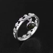 Новое поступление 925 стерлингового серебра Ювелирные изделия Оригинальная Дизайн  Очень нежный Урожай дизайн Прекрасные кольцо Природные камни ручной работы кольца для женщин  лучший  подарок(China (Mainland))