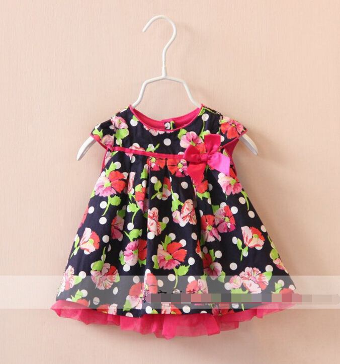 2016 New Baby infant flower dress 0-3 years girls dresses wholesale<br><br>Aliexpress