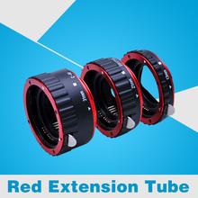 Red Metal Mount Auto Focus AF Macro Extension Tube Ring for Canon EOS EF-S Lens 100D 60D 70D 550D 600D 6D 7D T5i T4i