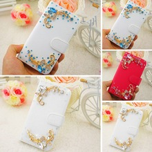 Lenovo a916 Pink Blue White Rhinestone High-quality leather mobile phone protection bags Case for Lenovo a916