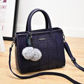 Trendy Litchi Stria Leather Occident Style Succinct Shoulder Bag Women Trendy Splicing Edgy All match Crossbody