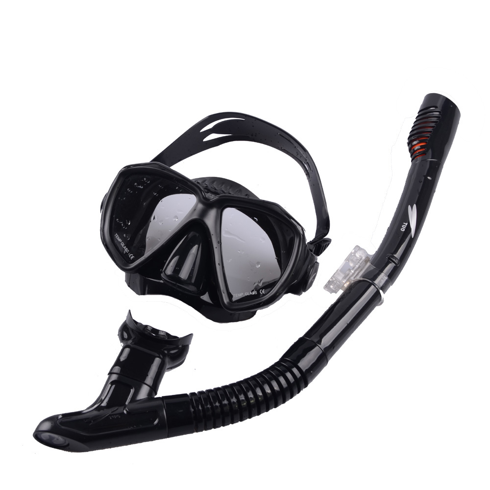 1 set adult diving mask and snorkel set tempered glass lens myopia lens diving set for scuba diving and skin diving<br><br>Aliexpress