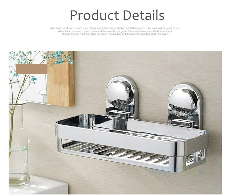 Bathroom Accessories Corner Rack Shower Caddy Shelf  Bathroom Shampoo Holder With Suction Cup Super-big Size Easy to Fix