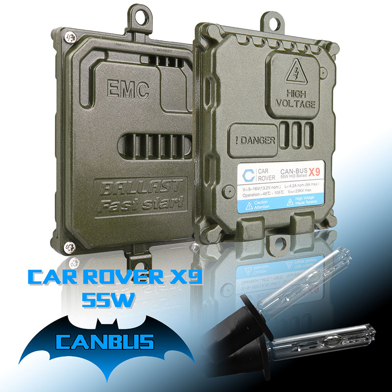 X9 HID Xenon Kit 55W H1 Bi Xenon H3 H4-2 H4-3 H7 H11 9005 HB3 9006 HB4 Bixenon Kit 4300K 5000K 6000K Xenon HID Headlight Bulbs(China (Mainland))