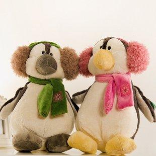 Penguins of Madagascar plush toy stuffed soft toy Madagascar plush toy factory supply 1pair/lot freeshipping