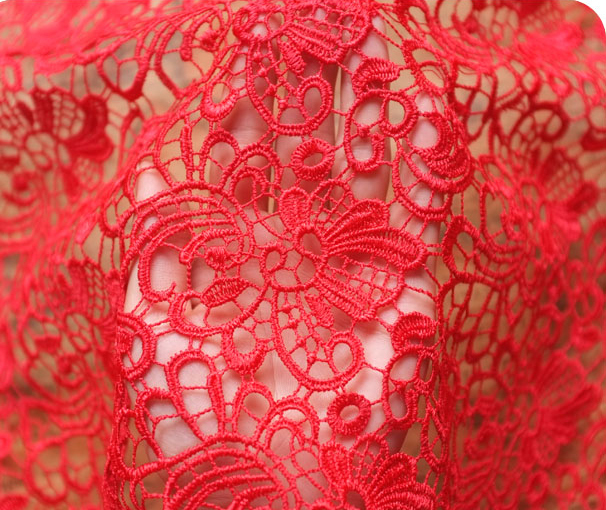 Buy 120cm red wedding dress lace fabric for Wedding dress fabric store