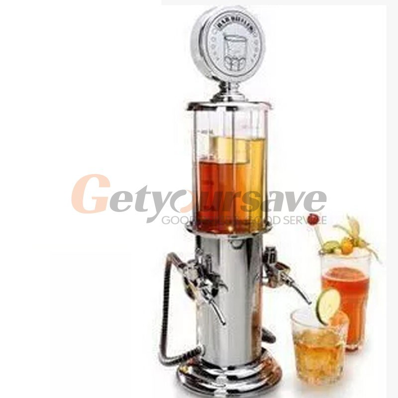 Wine Gas Station Cocktail Dispenser Drinks Bartending Beer Machine Double Pumps#(China (Mainland))