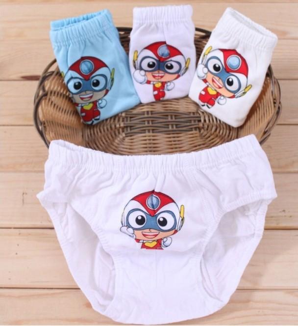 Small Superman Print Kids Underwear Boys Cotton Children's Panties Cartoon Boy Underwear Boxers Hot Selling(China (Mainland))