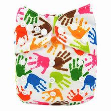[Sigzagor] zorro Navidad nieve bebé bolsillo paño pañal, reutilizable, lavable, ajustable, vacaciones, regalo de Acción de Gracias(China)
