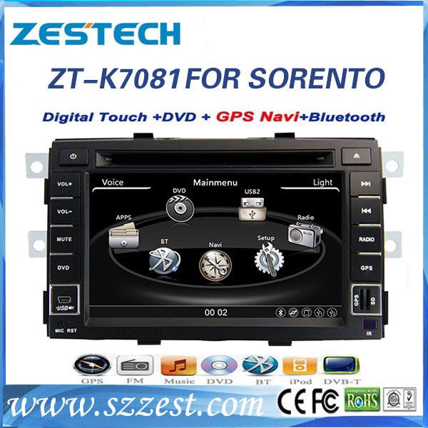 2015 ZESTECH free shipping 7inch car dvd player for KIA SORENTO with Bluetooth GPS(China (Mainland))