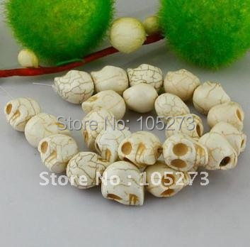 200pcs/lot White Color Factory Direct 12MM Resin &amp; Turquoise Skull Beads Fashion Skull Beads Nice Jewelry Great For Gift<br><br>Aliexpress
