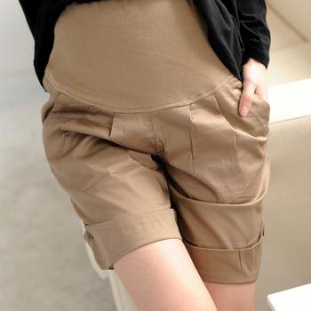 2013 new hot sale casual maternity shorts pregant woman 5 point shorts comfortable abdominal shorts belly pants