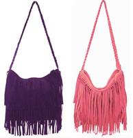 2015 New Fashion One Shoulder Bag + Vintage Tassel Cross Popular Casual Women Handbag Women Messenger Bags ay851242