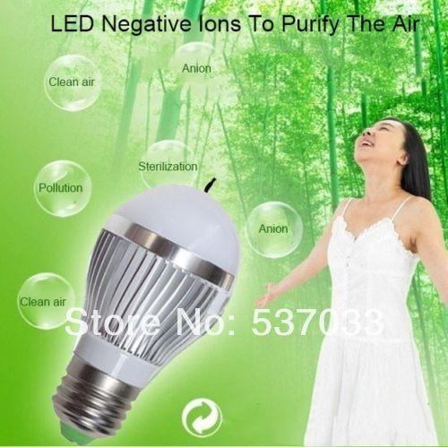 Free Shipping Newest 10W Energy Saving LED Light Bulbs Negative Ion Air Purifying Lamp No Smoking CE/ROHS Led Lighting Wholesale(China (Mainland))