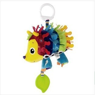 Free shipping,New arrival hot sale baby toys plush toy colorful hedgehog multipurpose bed bell/bed hang 1pc(China (Mainland))