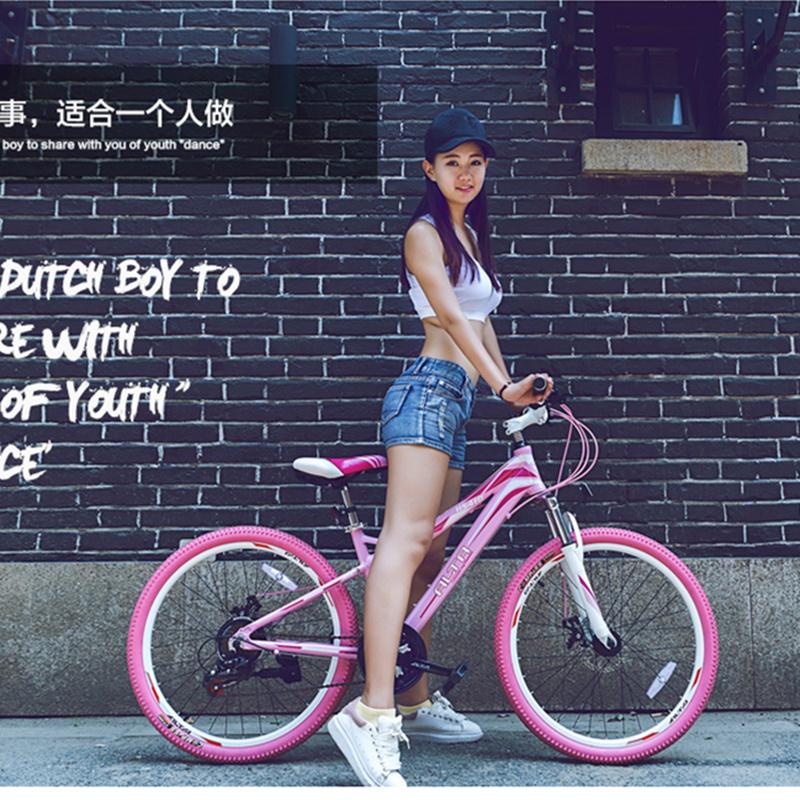 "24"" 21/24 Speed Mountain Bike for Girls, Student Bike, Lady Bicycle, MTB, BICICLETA, Aluminum Alloy Frame(China (Mainland))"