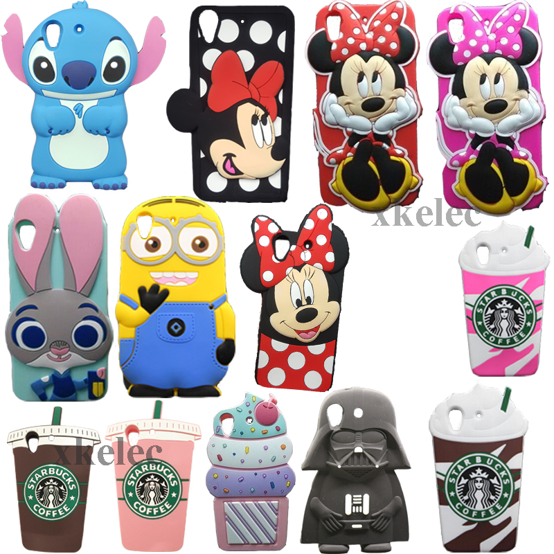 3D Funda For HTC Desire 626 626w 626d 626g Case Silicone Stitch Hello Kitty Minnie Sully Soft Cell Phone Back cup Cover Cases(China (Mainland))