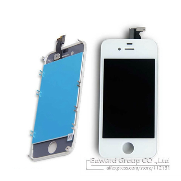 One pcs Black&White For iPhone4 4G A+++ Quality LCD Touch Screen Digitizer Assembly Replacement Parts Free Drop Ship NP150(China (Mainland))