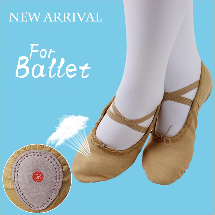size 25~41 canvas flats children soft sole girls ballet shoes Women Ballet Dance Shoes kids adult ladies camel - VOGARB OFFICIAL STORE store