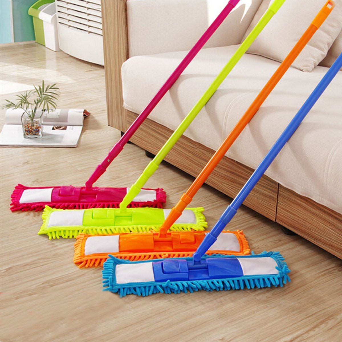Home Cleaning Tool Handheld Sweeper Broom Floor Mops Colorful 360 Degree Rotatable Cleaner Extendable Microfibre Sweeper Cleaner(China (Mainland))
