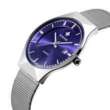 Men Watches Top Brand Luxury30M Waterproof Ultra Thin Date Clock Male Steel Strap Casual Quartz Watch Men Sports Wrist Watch(China (Mainland))