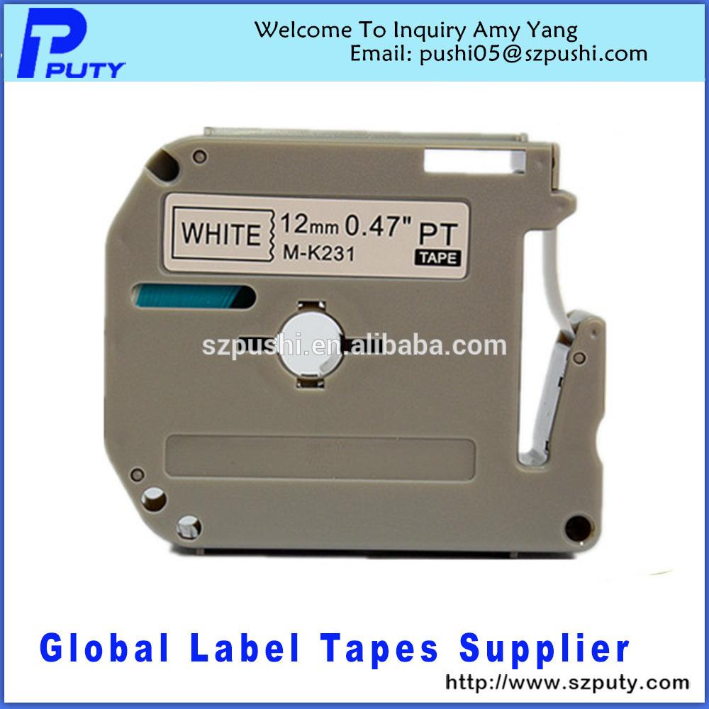 Лента для печатающего устройства PUTY Mk231 m/k231 12 M-k231 лента для печатающего устройства puty 2 tze 231 bro pt 2030 p tz231 tze 231