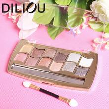 2016 12 colors diamond bright colorful eye shadow super flash paleta de maquiagem Glitter eyeshadow with brush makeup NO.1916(China (Mainland))