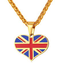 Buy New Hot UK Heart Love Necklace Pendant Stainless Steel/Gold Color Women/Men Trendy Patriot England National Flag Jewelry GP2450 ) for $6.99 in AliExpress store