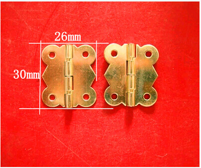 30 * 26MM kitchen cabinet hinges Butterfly Antique furniture hinge hardware lace wooden box hinge 90 degrees Wholesale(China (Mainland))
