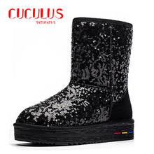 BUYINIAO wholesale Australia Classic Snow Boots Women's Cow Suede Winter Classic boots 5827(China (Mainland))