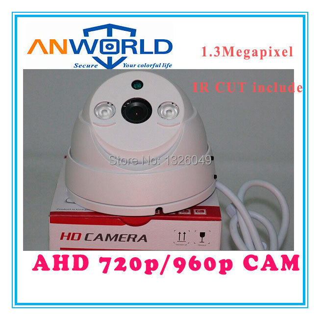HD AHD 1.3MP CCTV Camera fixed 3.6mm 6mm lens 15m IR Distance 2 array LED metal Dome camera day and night home security camera(China (Mainland))