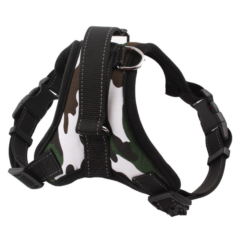 Small And Medium Dog Harness Vest 2016 New Pet Products Comfortable Nylon Net Cloth 4 Colors Professional Dog Chest Straps S-XL(China (Mainland))