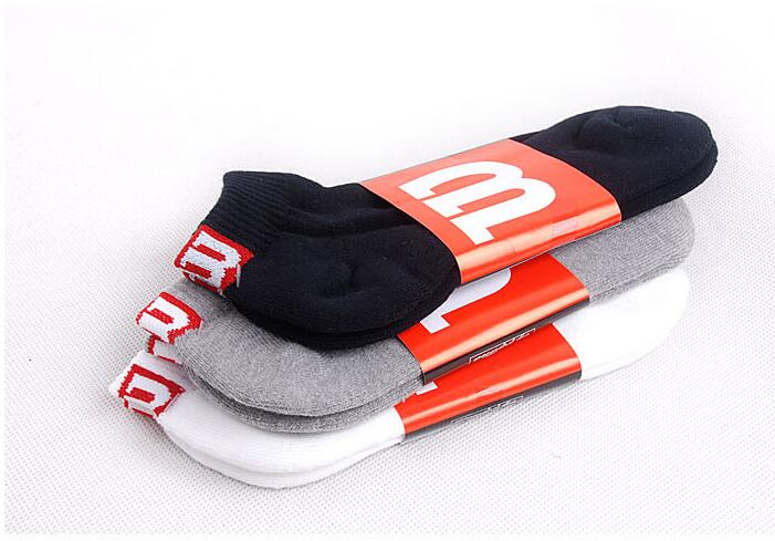 37-43 1lot=10pairs given original FK Thick Thin GS Wilson SHORT ankle socks sox signature white black grey RED M men cousins bro(China (Mainland))