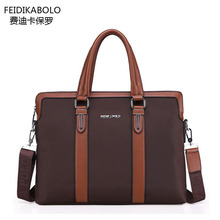 FD BOLO Brand Bag Men Briefcase Leather portadocumentos Mens Tote Shoulder Bag Men messenger bags Men's Crossbody Bags Briefcase(China (Mainland))