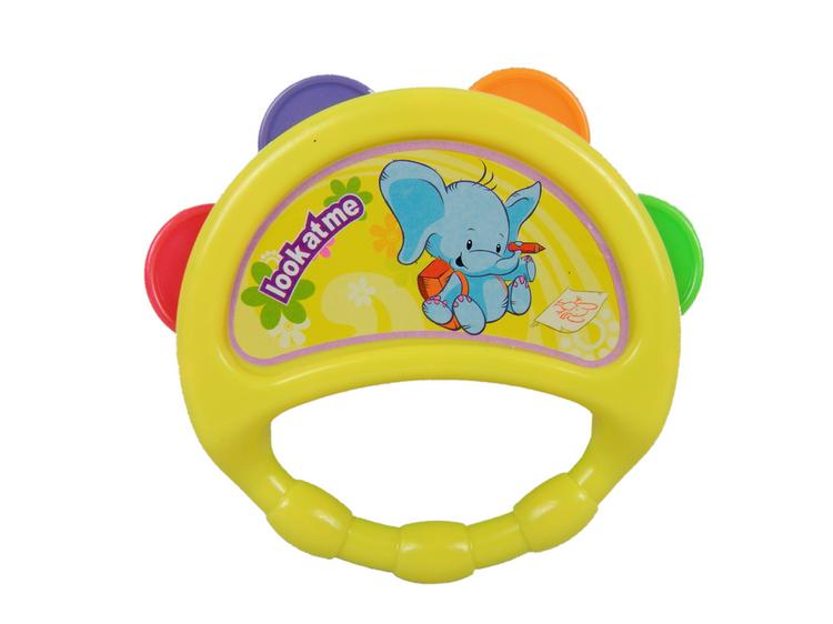 Baby hand drum music child ofdynamism tambourine baby educational toys 0-1 year old rattles, drum(China (Mainland))