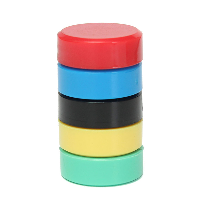 New Arrival High Quality 10Pcs 20mm Round Magnets For Notice Board Planning Whiteboard Office Home Fridge 5 Colors(China (Mainland))