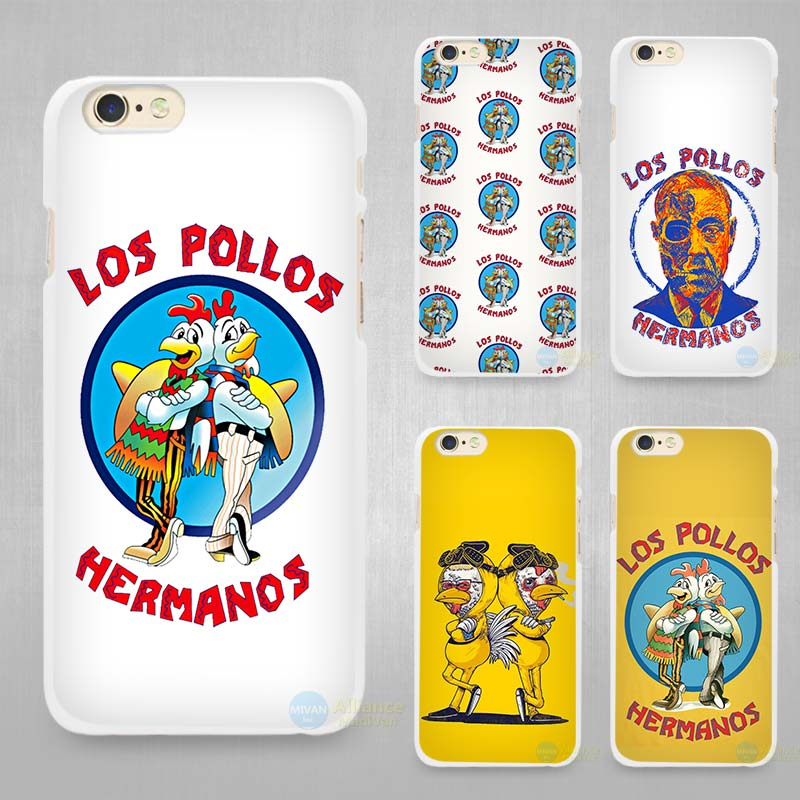 Los Pollos Breaking Bad Hard White Cell Phone Case Cover for Apple iPhone 4 4s 5 5C SE 5s 6 6s 7 Plus(China (Mainland))