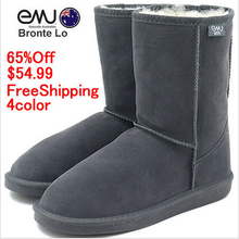 New Australia snow boots EMU Bronte LO100% merino Wool inner with Cow-Suede Genuine Leather outer short Snow Boots (W20002)5825