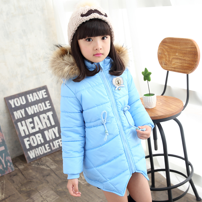 2016 new arrival girls outerwear high quality cotton-padded coat for kids winter warm jackets children hoodies clothing<br><br>Aliexpress