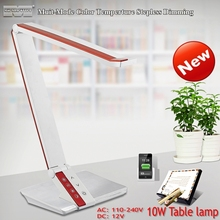 New desk Lamps/LED Table lamp/Reading lamp/LED study lamp/ 10W Smouch swich 4 color temperature adjustment and dimmer designart(China (Mainland))