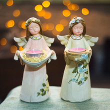 Creative Little Angel Candelabra Centerpieces Wedding Home Resin Crafts Valentine's Day Gifts(China (Mainland))