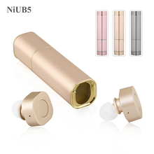 NiUB5 TWS Wireless Earphone Fashion Sex Lipstick Style Bluetooth Earbuds with Power Bank Box Recharge Outside Travel Earphones(China (Mainland))