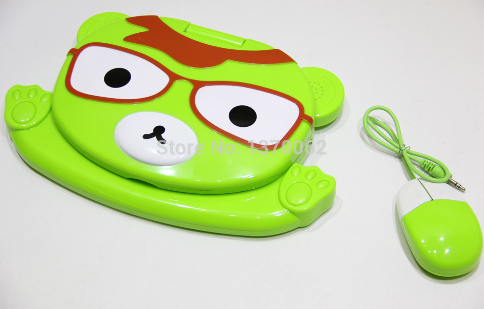 New Arrival Brinquedos Educativos Russian and English Language Kids Learning Machine Computer Toys Study Educational Toy Laptop(China (Mainland))