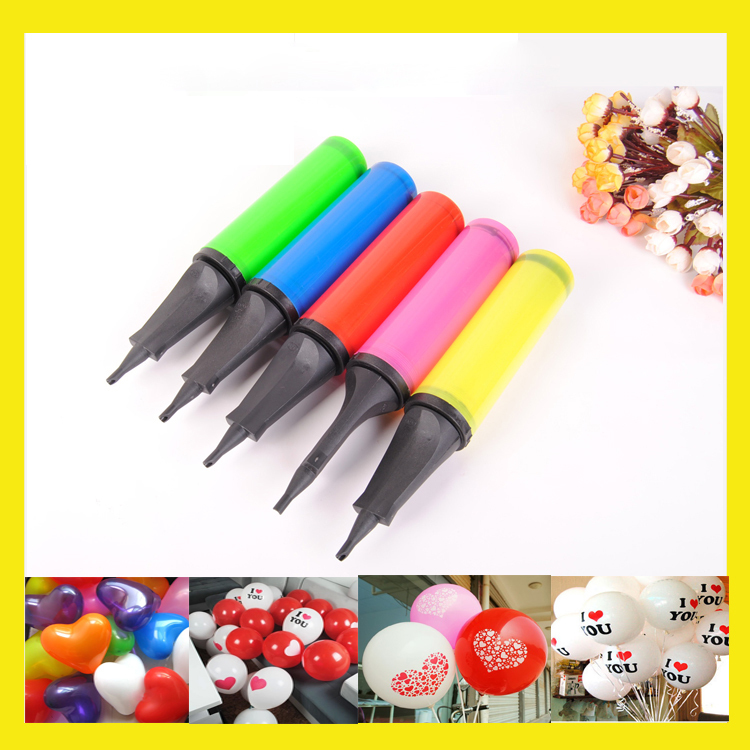 1 PCS 5 Colors Mini Plastic Hand Air Pump Needle Ball Party Balloon Soccer Inflator for Balloons Swim Ring Accessories(China (Mainland))