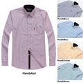 2015 men clothing brand dress shirts 100% cotton long sleeved striped shirt fashion famous luxury slim fit stylish men shirts