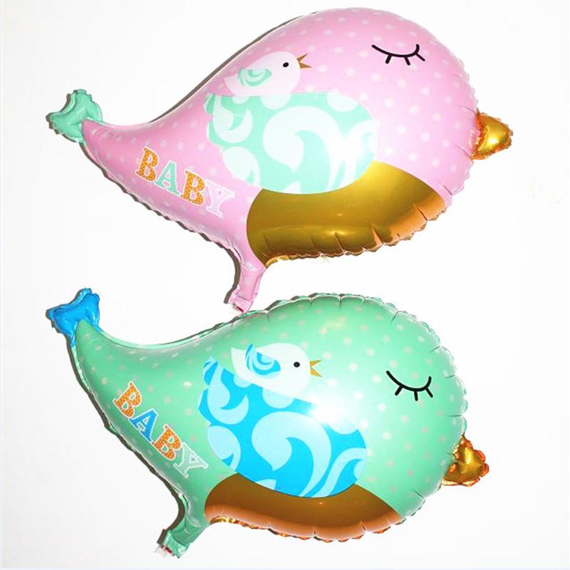 2PCS/Lot 66*55cm Baby Bird Balloons Pet Helium Pink Bird Animal Balloons For Birthday Party Wedding Decoration Kids Toys B225(China (Mainland))